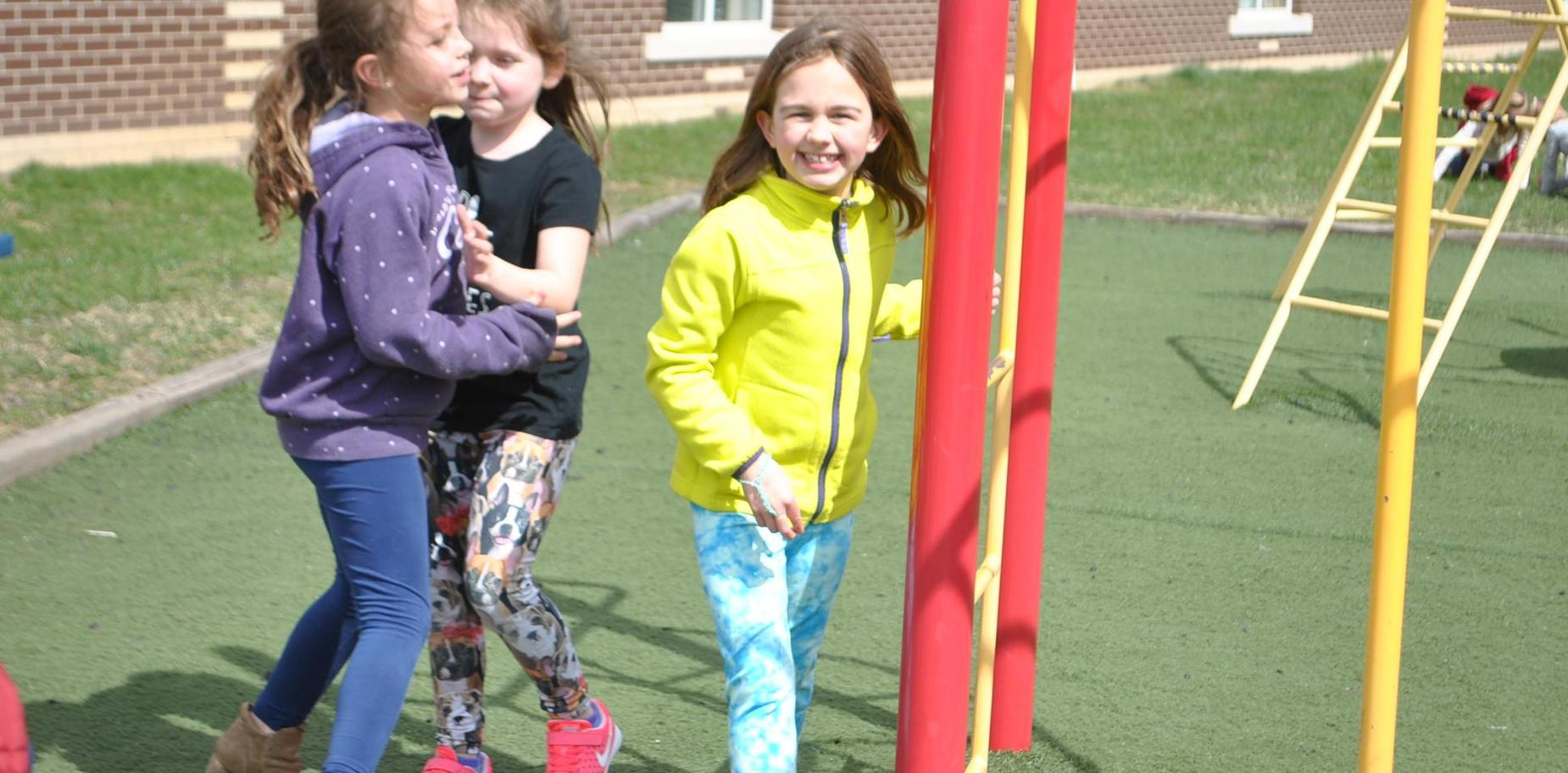 Students on play ground