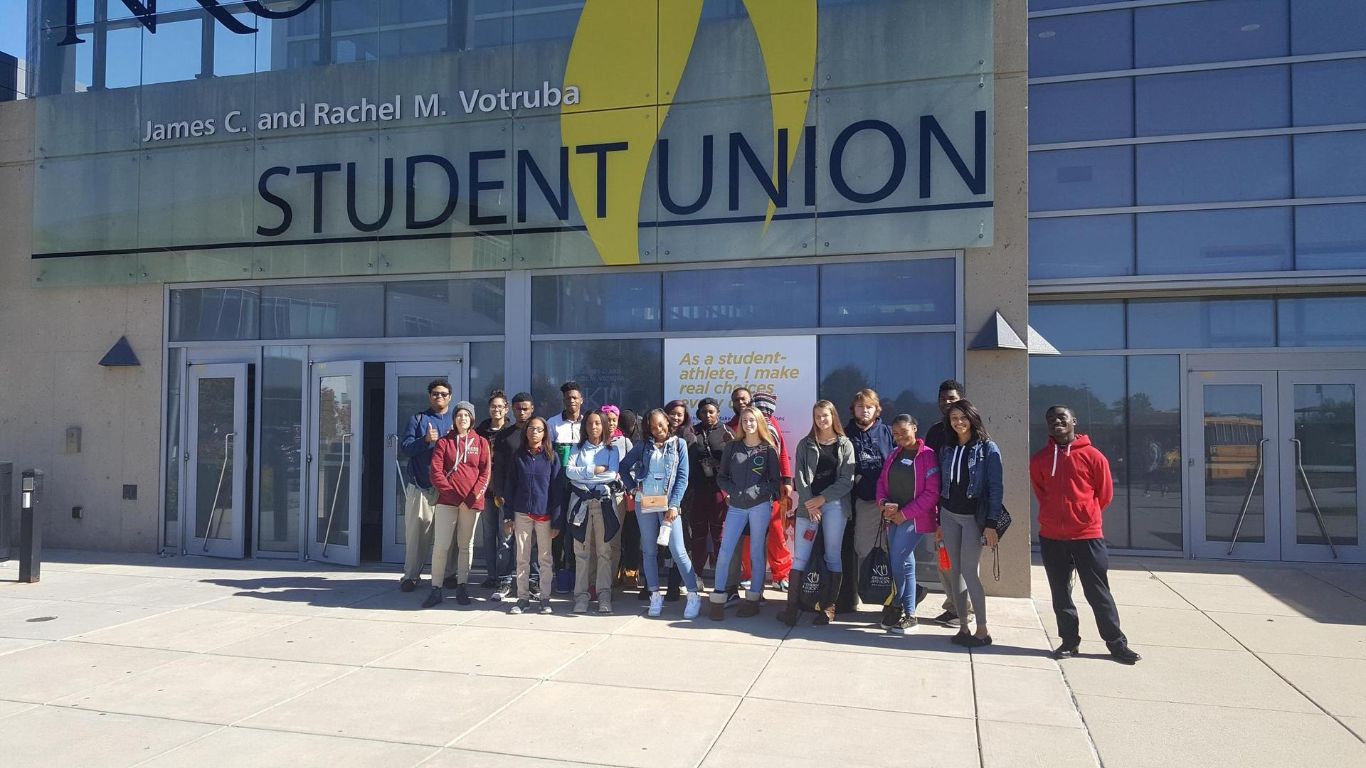 NCH students visiting NKU