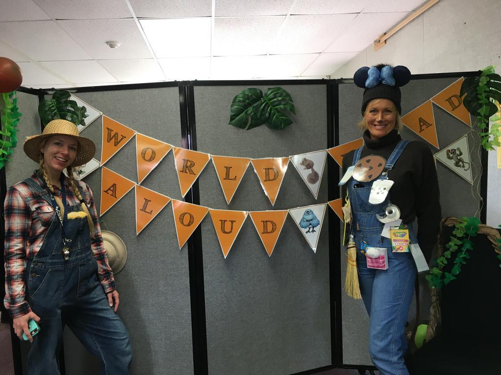 teachers dress up as book characters