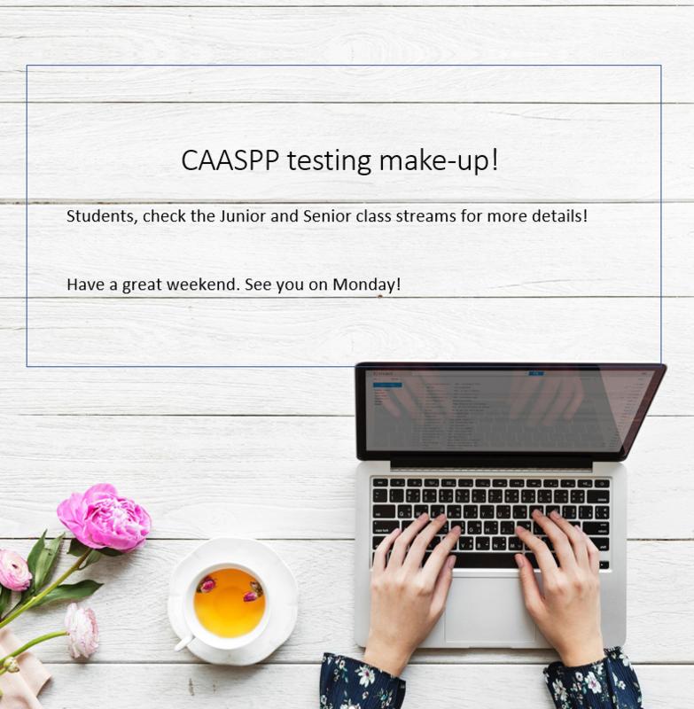 CAASPP Make-ups Featured Photo