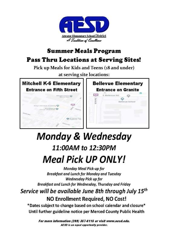 Summer Meal Program Flyer