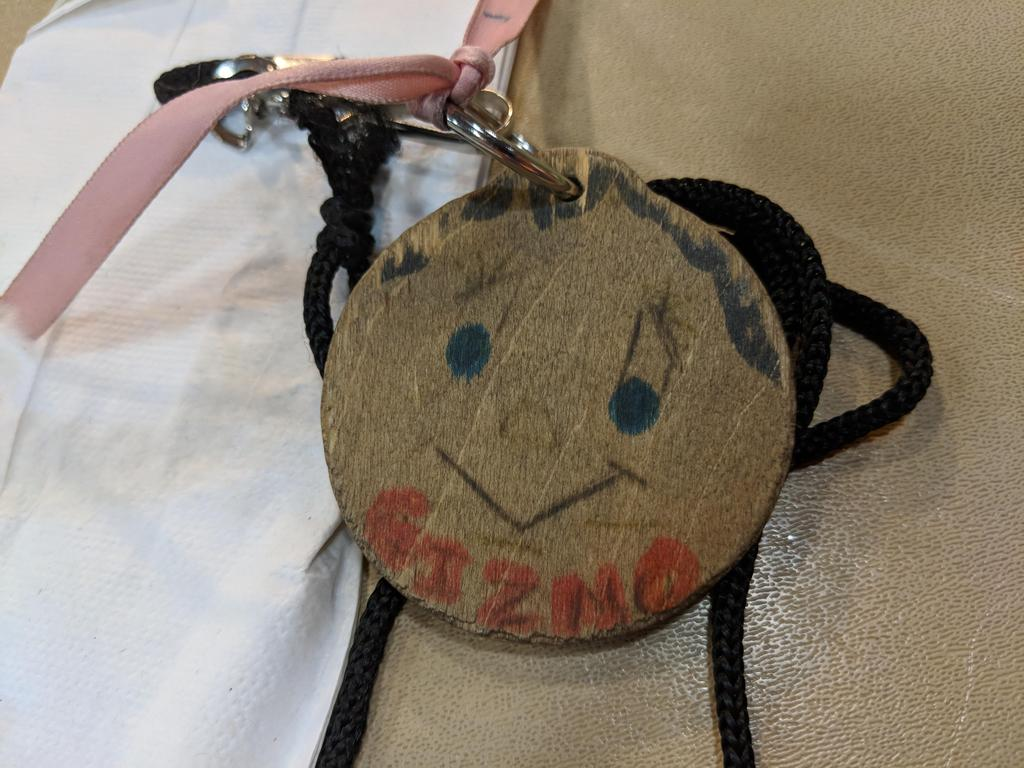 Gizmo--a round wooden object students wear.  They cannot say a number or they will lose it!