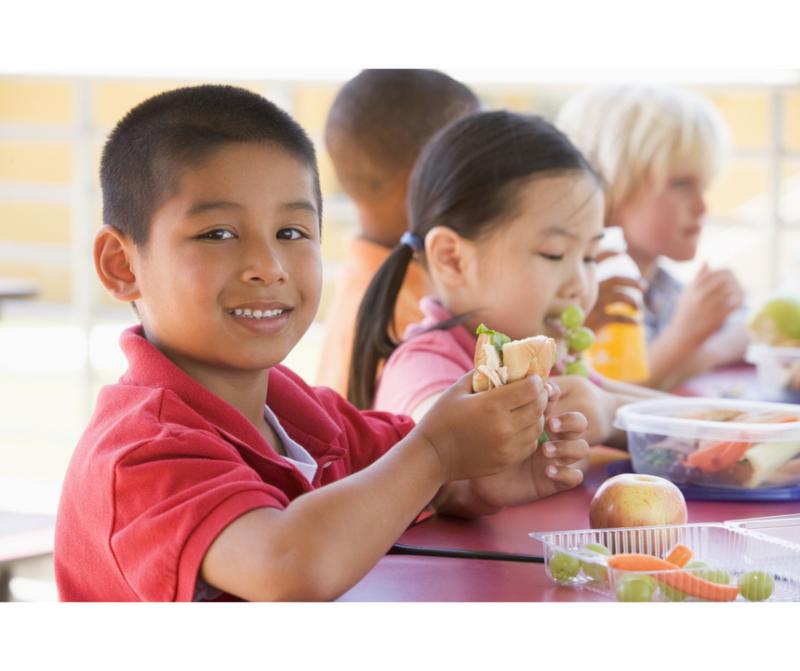 children eating together