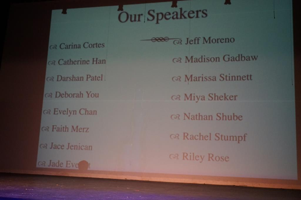 Speaker list at I have a dream speech