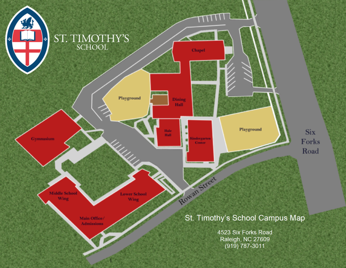 Campus Map of St. Timothy's School