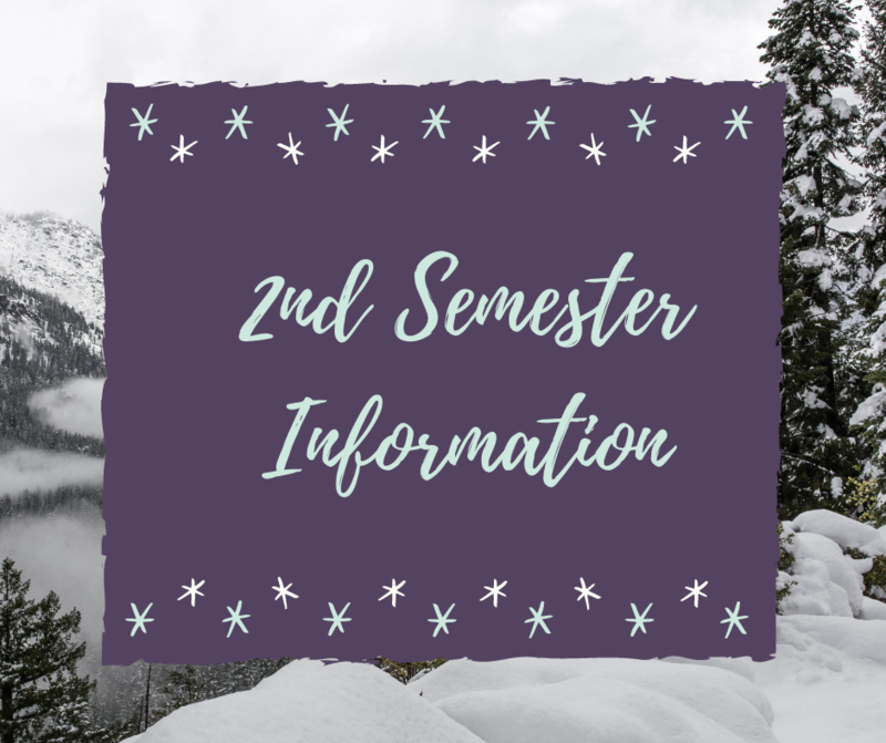 2nd Semester Information