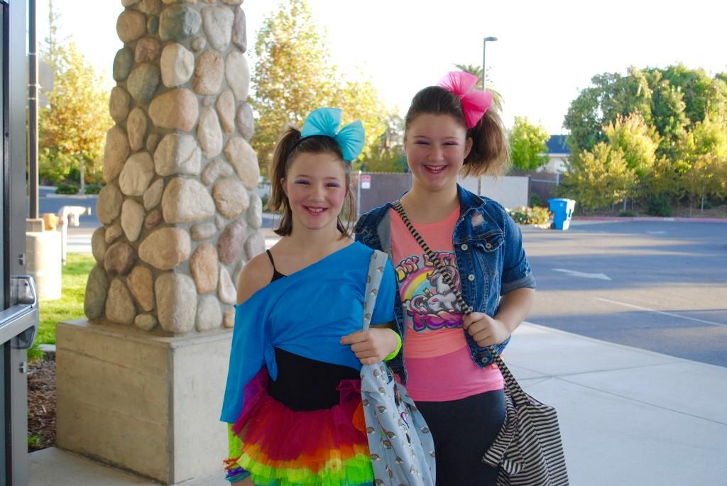 Students dressed up for Throwback Thursday