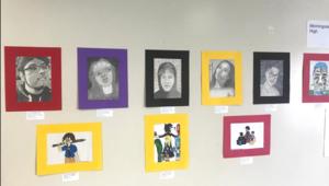 Student art on display