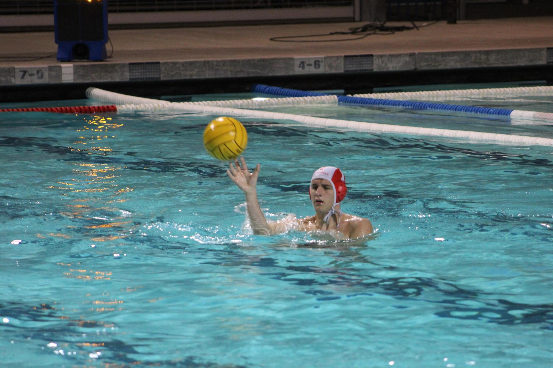 Boys Water Polo Playing at Playoff Game