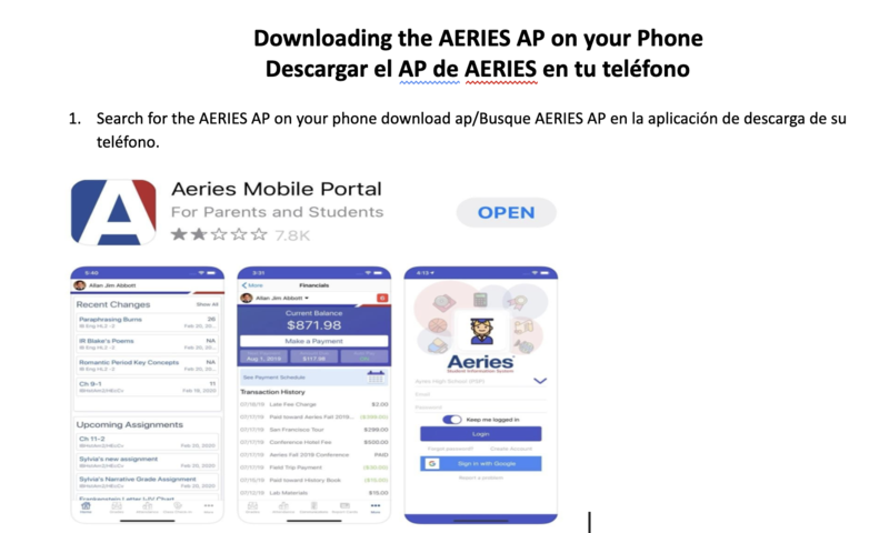 AERIES AP for your Phone