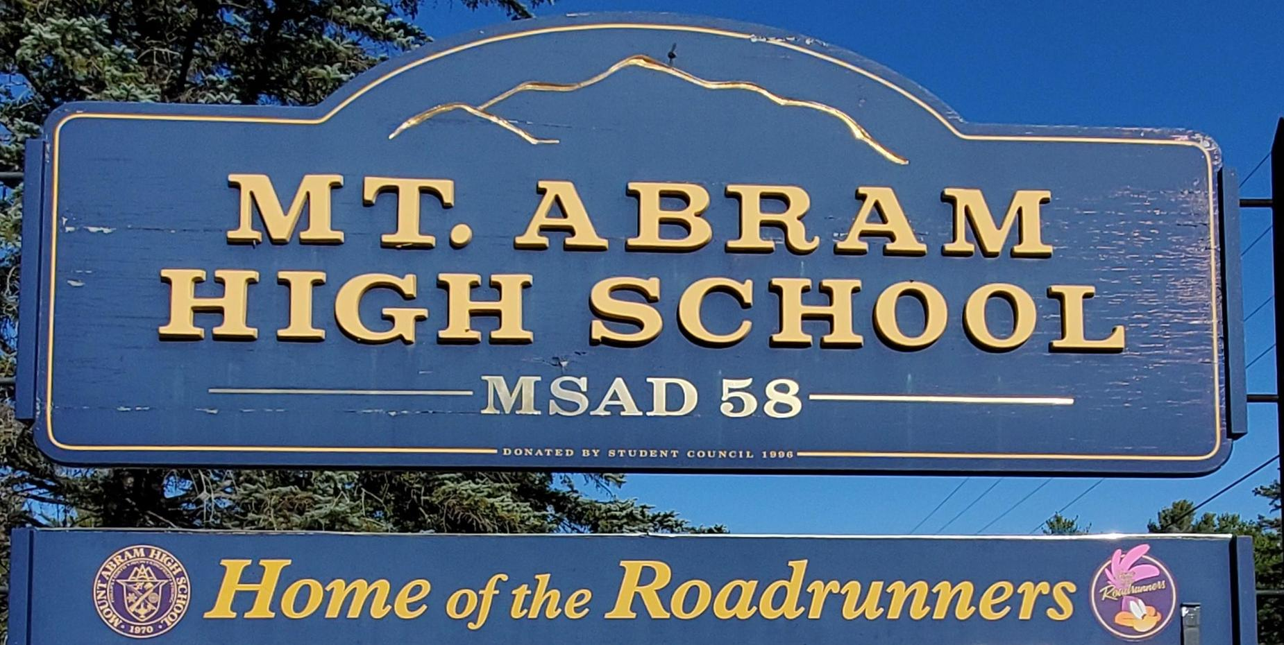 Mount Abram Sign