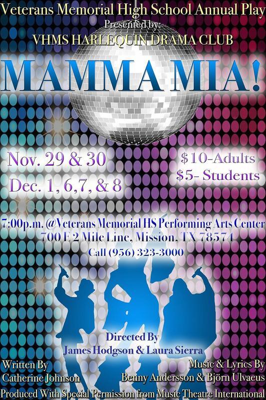 Poster publicizing Mamma Mia
