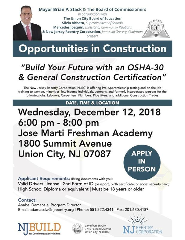 Opportunities in Construction Flyer