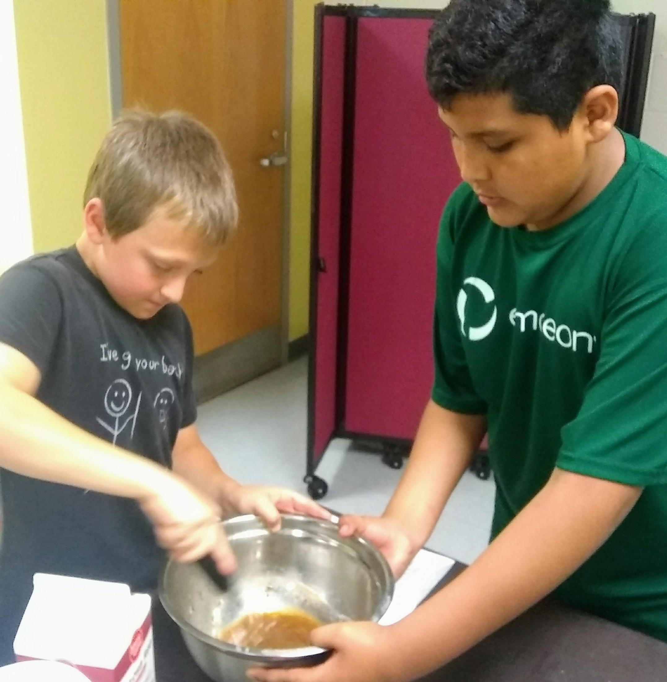 kids making french toast