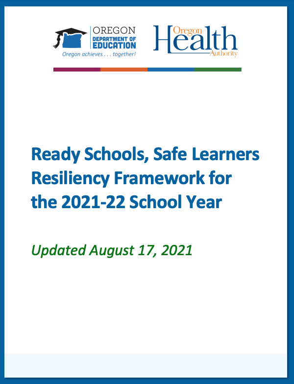 Ready Schools, Safe Learners Cover Sheet
