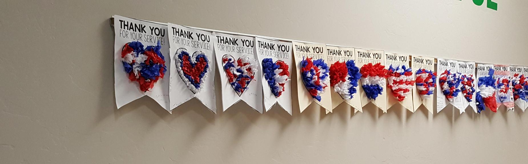 Banner Thanking Veterans