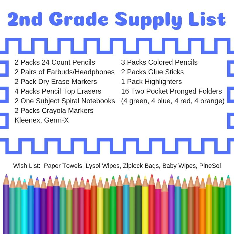 Top Lists 2020.School Supply Lists For 2019 2020 Parents Scott County