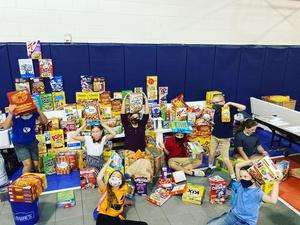 2020 Food Drive 4th Grade Student Council. Legacy Preparatory Academy best charter school in Davis County