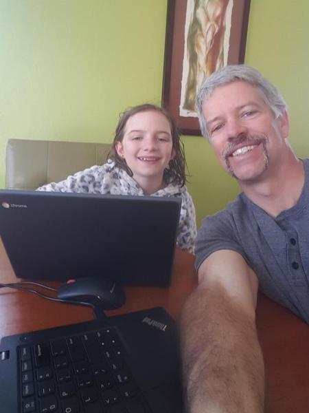 Principal and daughter at home