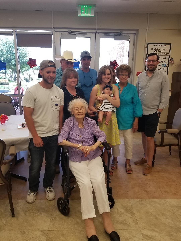 Mema's birthday party.  102 years