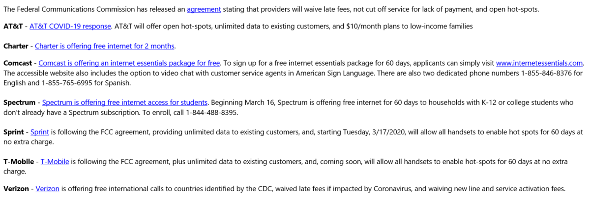 free internet offers
