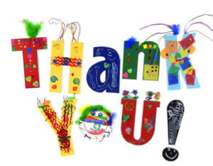 Colorful image of the words Thank You