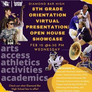 Open House Showcase - 8th Grade Orientation Flyer 2022.jpg