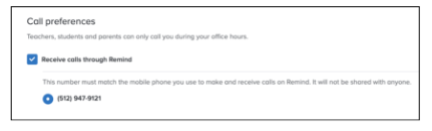 Remind opt out of calls