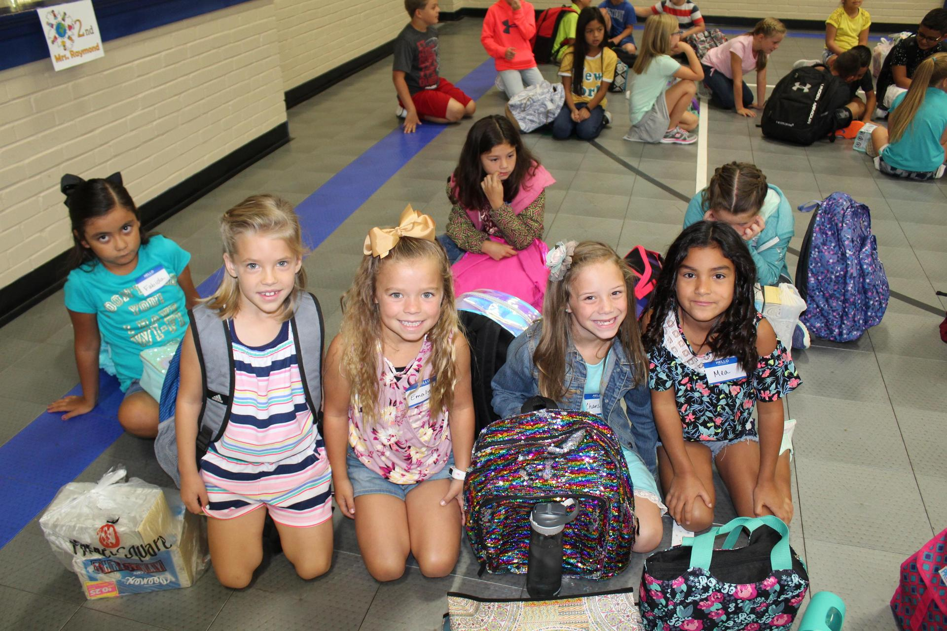 Students ready for a new year of school