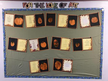 Fall is poems with pumpkin art