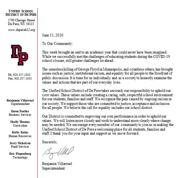 social justice letter