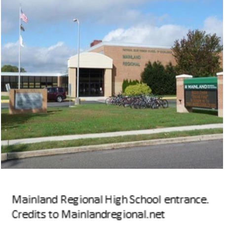 The front of Mainland Regional High School
