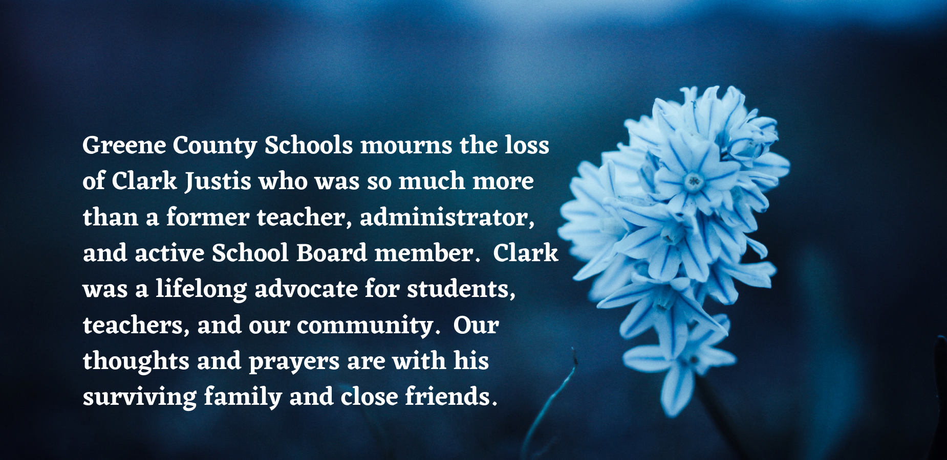 GCS Mourns Loss of Clark Justis