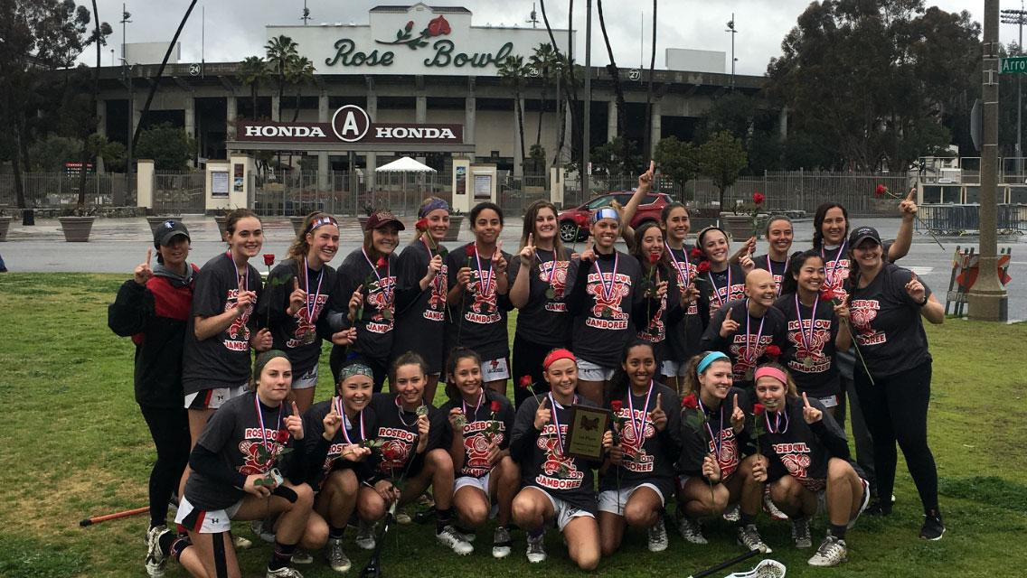 Pirls Lacrosse team 2019 after Rose Bowl Tournament win.