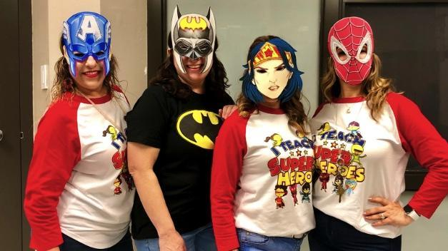 Second grade teachers as masked crusaders!