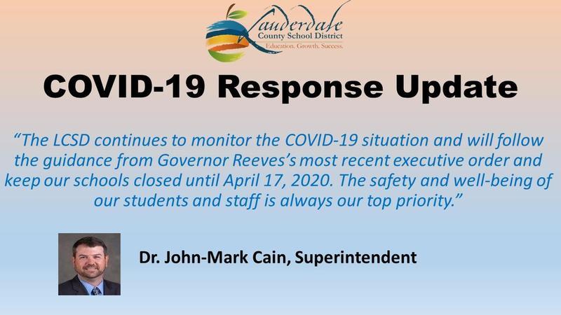 LCSD Closure Until 4/17/20 Flyer
