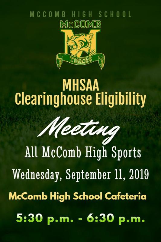 McComb High School MHSAA (Mississippi High School Activities Association) Clearninghouse Eligibility Meeting News 2019 #WeWantMore!