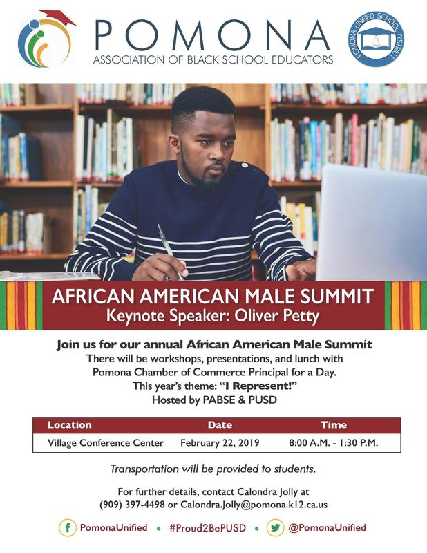 Join us for our annual African American Male Summit