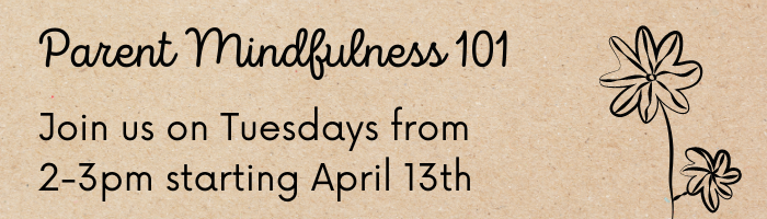 Parent mindfulness - black text on brown background