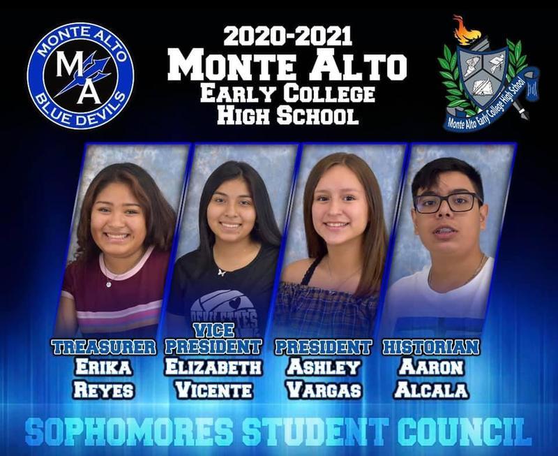 2020-2021 Monte Alto ECHS Student Council: Sophomore Class Featured Photo