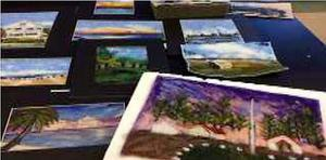 Pictured here are a number of paintings created by Westfield students as part of the newsletter, Arts a la Carte.