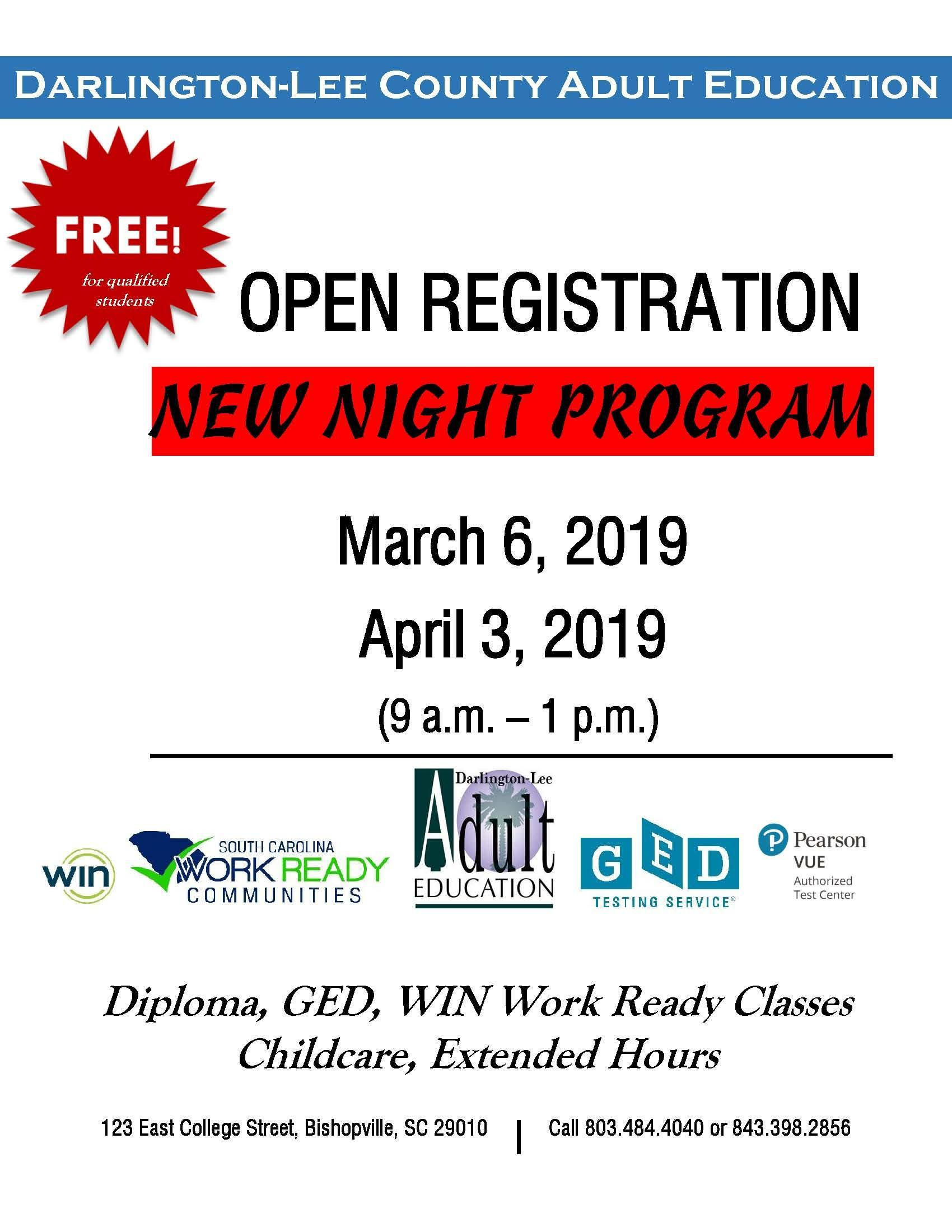 Adult Education Adult Education Lee County School District