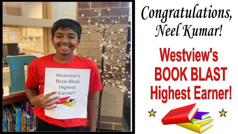 Neel Kumar Westview's Book Blast Highest Earner