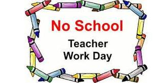 no school  teacher work day