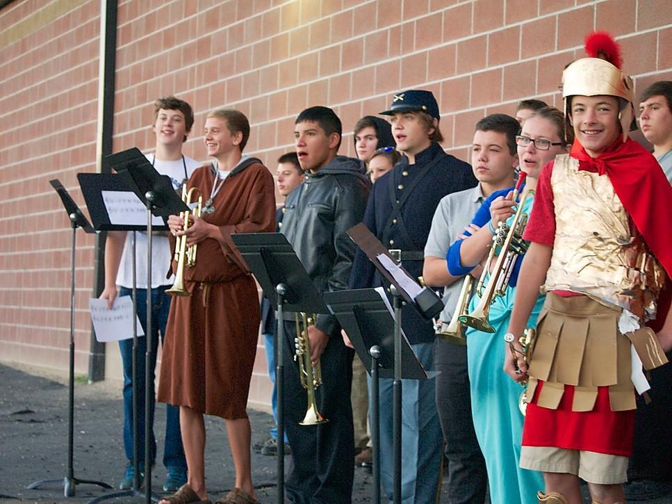 High School Band on History Day