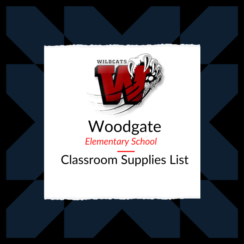 Woodgate Elementary School Supply Lists Featured Photo