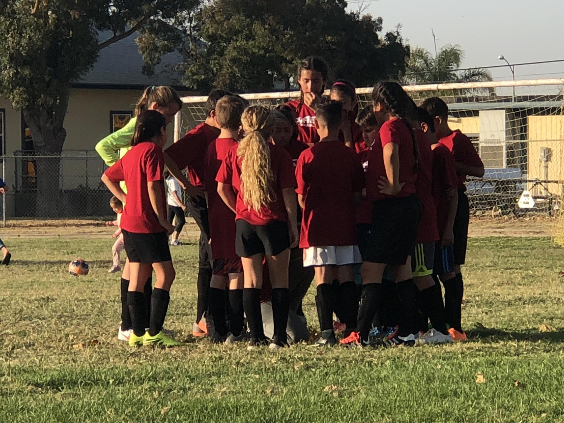 Half Time: Soccer Game