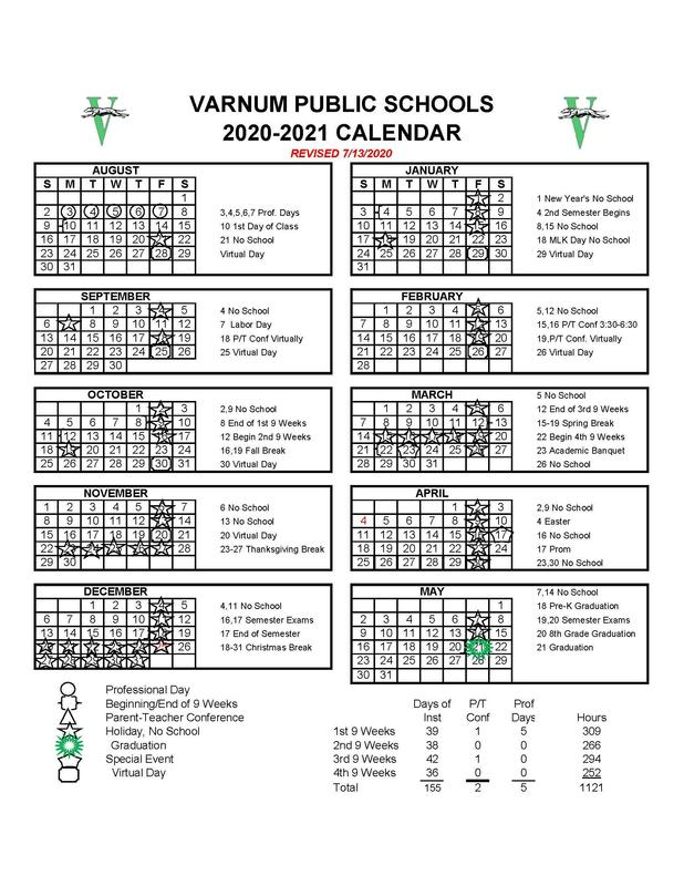 2020-2021 DISTRICT CALENDAR Featured Photo