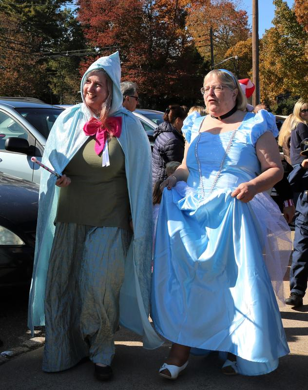 Two Jefferson staffers dress as Cinderella and Fairy Godmother for Jefferson's Halloween Parade.