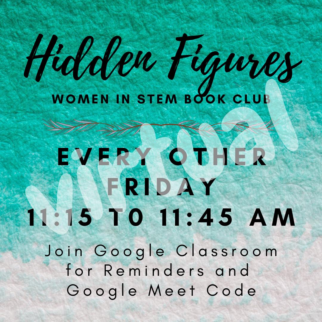 Hidden Figures Book Club image